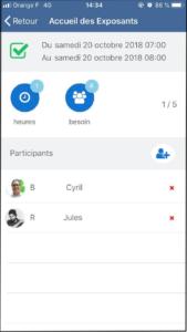 application mobile déclaration heure de bénévolat