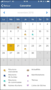 application mobile calendrier