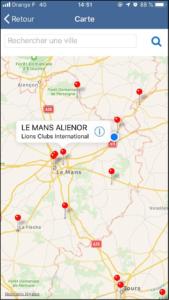 application mobile carte des clubs