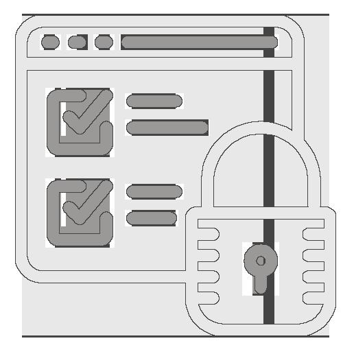 Icône data sécurisées