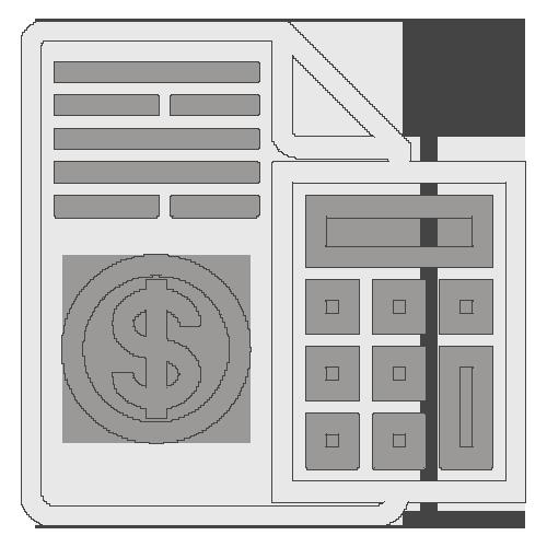 Icône documents financiers