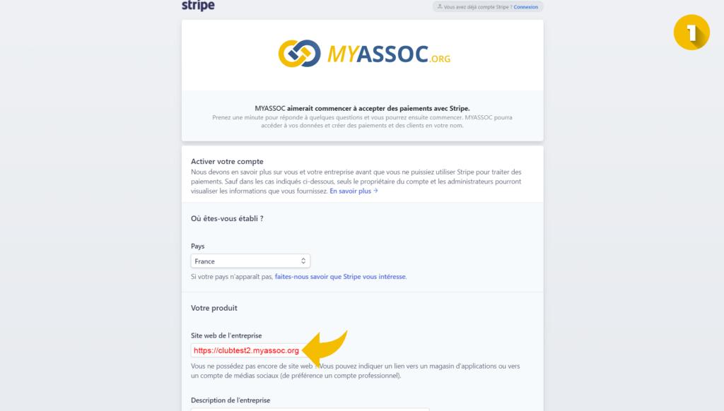 Informations pour lier compte à MyAssoc