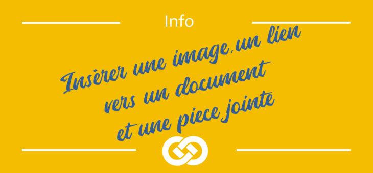 Insérer image, lien vers document et pièce jointe