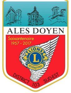 Témoignages Fanion Lions Club Ales Doyen