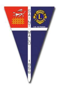 Fanion Lions Club Saint Malo