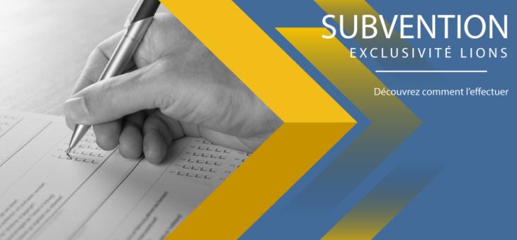 Demande de subvention – EXCLU LIONS