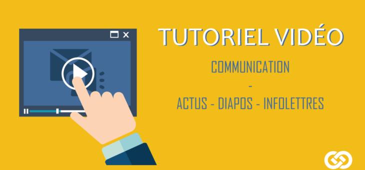 Outils de la Communication – Actualités, Diaporamas, Infolettres