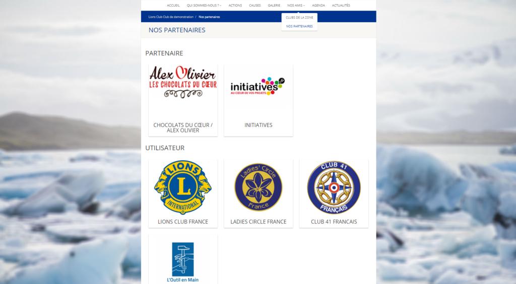 partenaires site web
