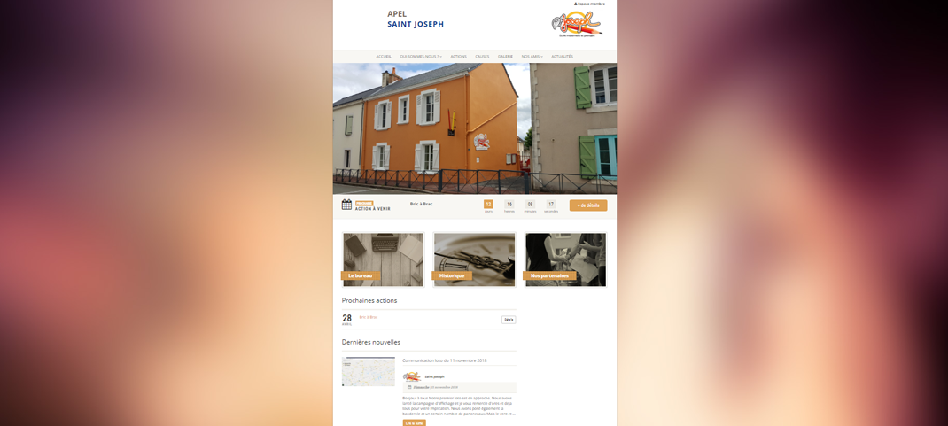 Site web APEL St Joseph