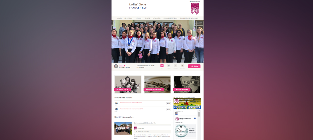 site web Ladies Circle France